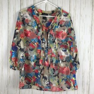 Lane Bryant Sheer Blouse Size 14/16